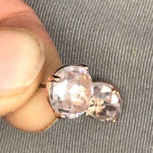 Kate spade rose gold new pink crystal earrings